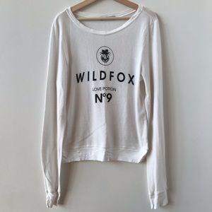 Wildfox Love Potion No 9 white sweatshirt
